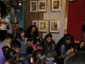 Niños participantes en el taller sobre Botero.