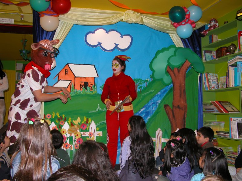 La vaca estudiosa uno de los personajes de la obra de teatro