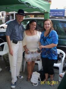 Miguel Falquez-Certain, Jacqueline Donado y Gloria Medina