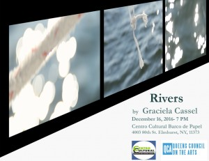 Video installation: Rivers by Gabriela Cassel @ Libreria Barco de Papel | New York | United States